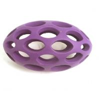 Cyber Lattice Rugby Ball Dog Toy